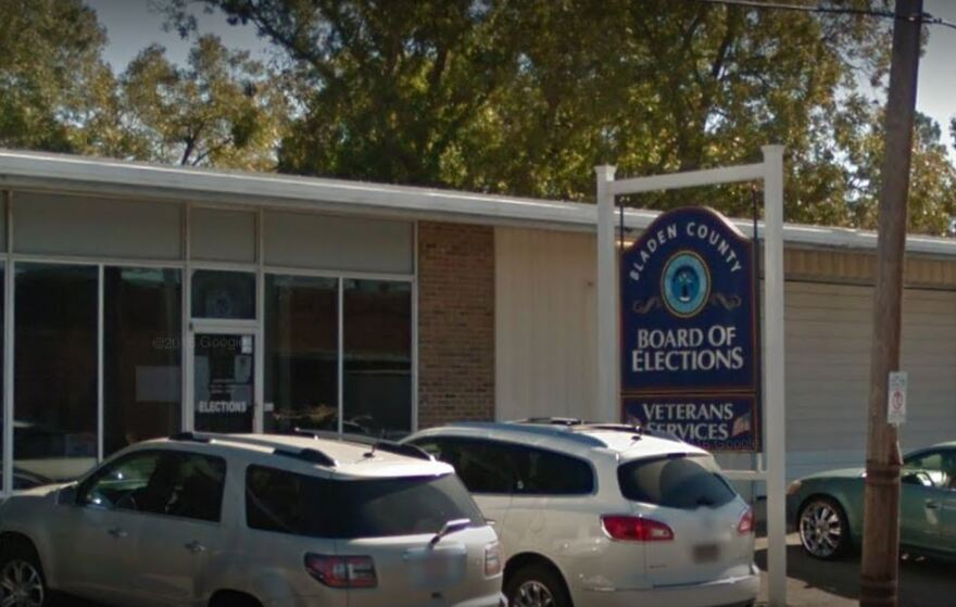 Bladen County's board of elections in Elizabethtown.