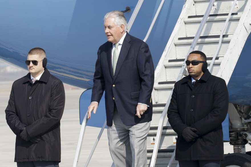 U.S. Secretary of State Rex Tillerson, upon arriving at the Osan Air Base in South Korea last week.