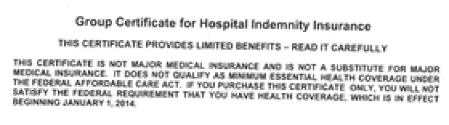 From the front of the health plan given to part-time workers with Ultra Aviation Services.