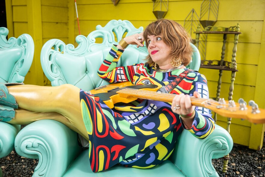 Erin Walter poses for a portrait at Far Out Lounge and Stage on Aug. 5, 2021.