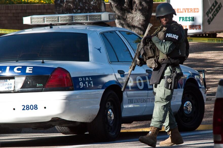 Armed Austin police officer