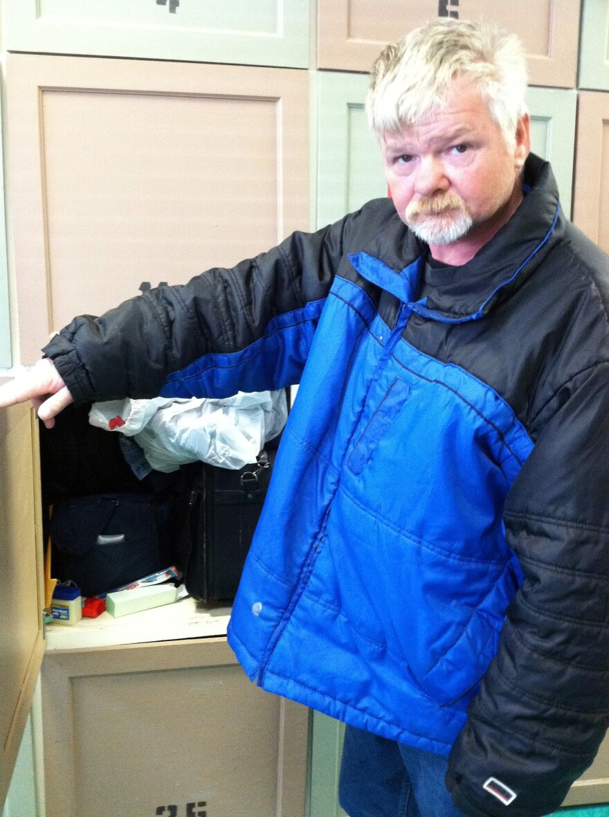 Roger Bottomley of Fairfax, Va., has been homeless for 10 years. He expected to get a housing voucher, but then his appointment with the local housing authority was canceled because of sequestration. He keeps his belongings in a locker at a homeless day center.