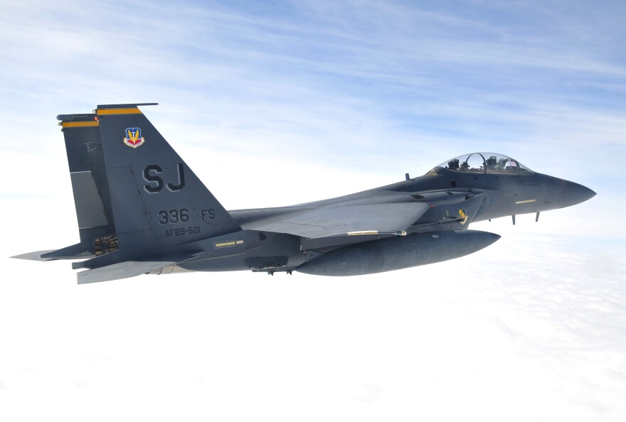To keep up their skills, Air Force pilots at Seymour Johnson Air Force Base usually have to fly eight or nine times a month.