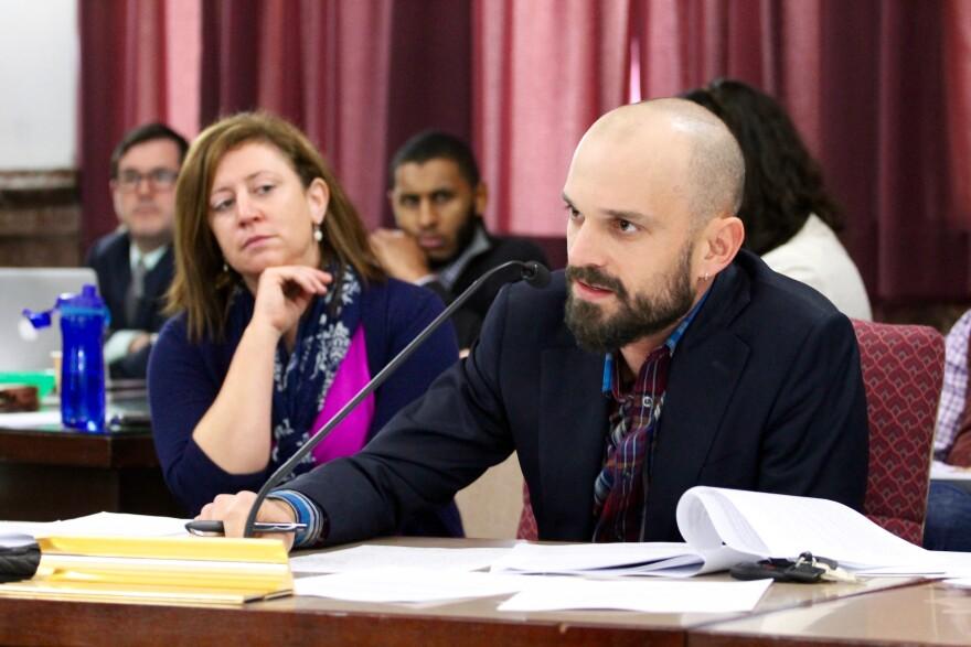 Alderman Scott Ogilvie, D-24th, leveled harsh criticism on the stadium proposal during Thursday's meeting.
