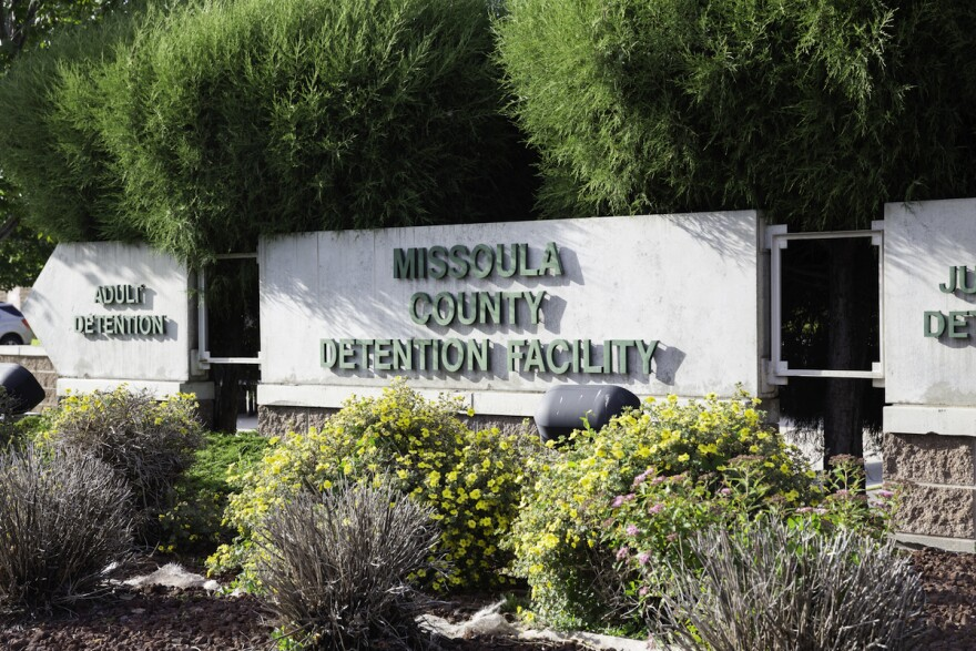 The sign for the Missoula County Detention Facility in Missoula, Montana in June, 2020.