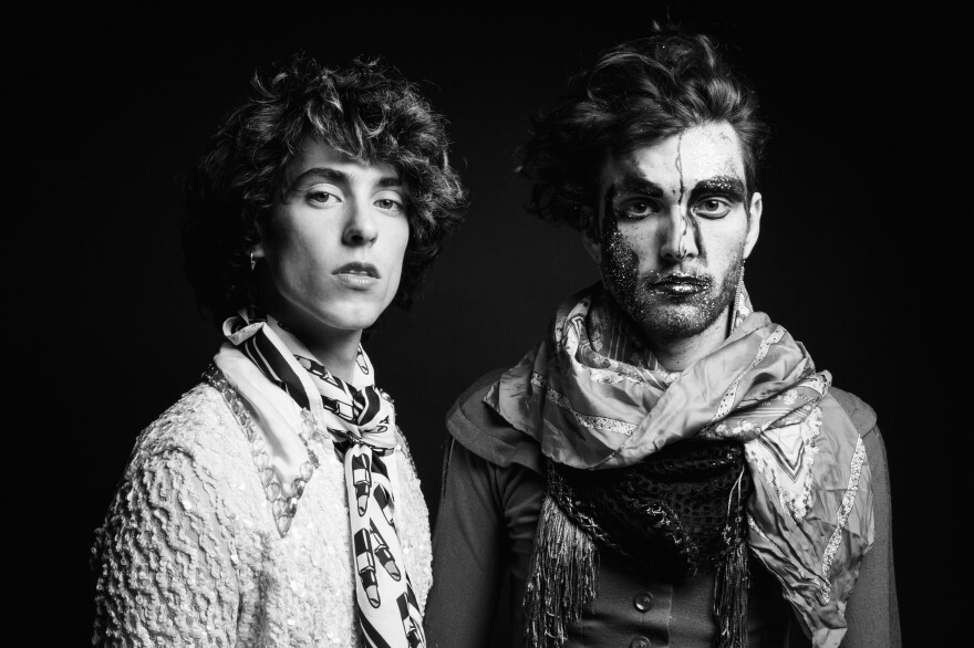Liv Bruce (left) and Ben Hopkins of PWR BTTM.