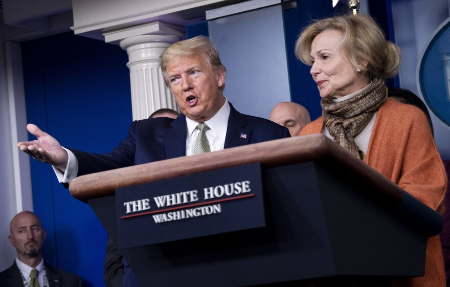 "Dr. Deborah Birx, who coordinates the White House Coronavirus Task Force, criticized a test ""where 50% or 47% are false positives"" at a briefing on March 17."