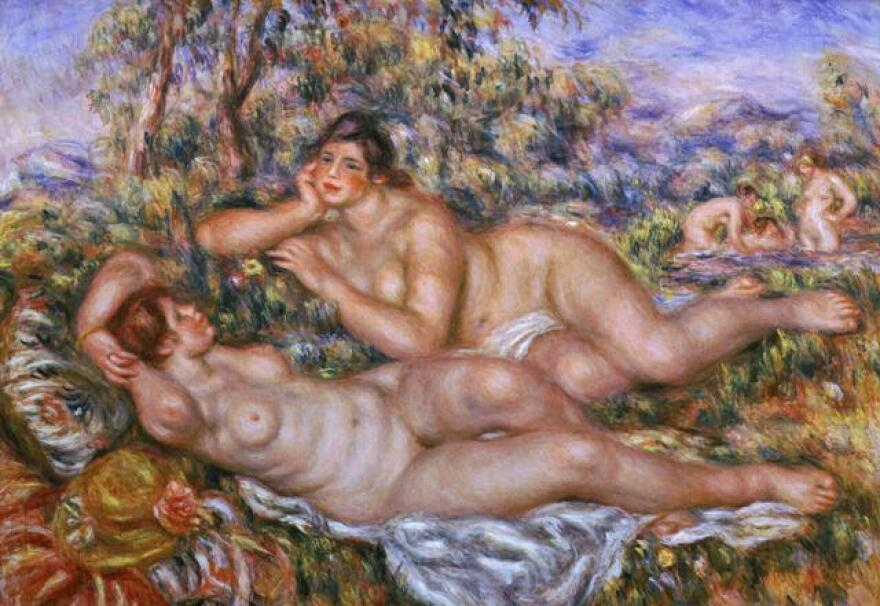 Renoir's <em>The Bathers (Bathing Women) </em>also used Andree Heuschling as inspiration. Critics say the young model gave the aging artist a needed boost of inspiration during his final years.