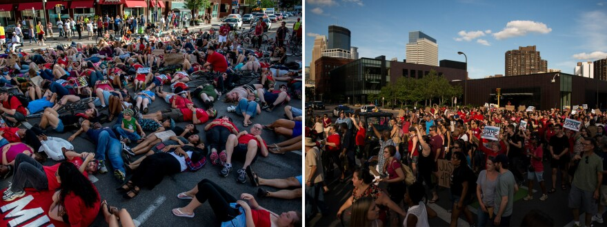 On Saturday, activists protest the death of Philando Castile in downtown Minneapolis, Minn.