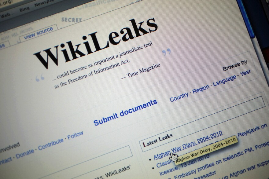 The homepage of the WikiLeaks.org website circa 2010. The Manning leaks put a little-known transparency organization on the map and made its founder, Julian Assange, a household name.