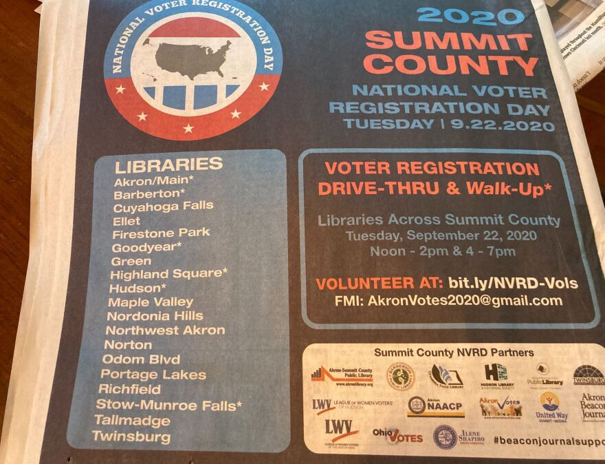 an ad about register to vote day