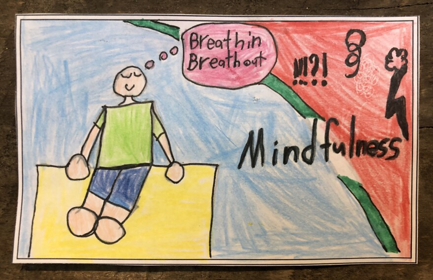 Eight-year-old Daniel from Brooklyn, N.Y., shows us how mindfulness activities help him during lockdown.