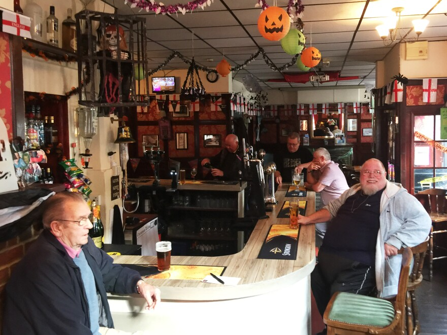 The morning crowd at the Bulls Head pub in England's seaside town of Margate, an area that voted for the U.K. to leave the European Union. Many residents share the same political concerns as Donald Trump, but are highly critical of his rhetoric and policies.