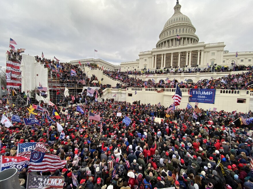 Pro-Trump extremists assaulted the U.S. Capitol on Jan. 6. The acting U.S. Capitol Police chief apologized to Congress Tuesday for the department's failure to secure the building.