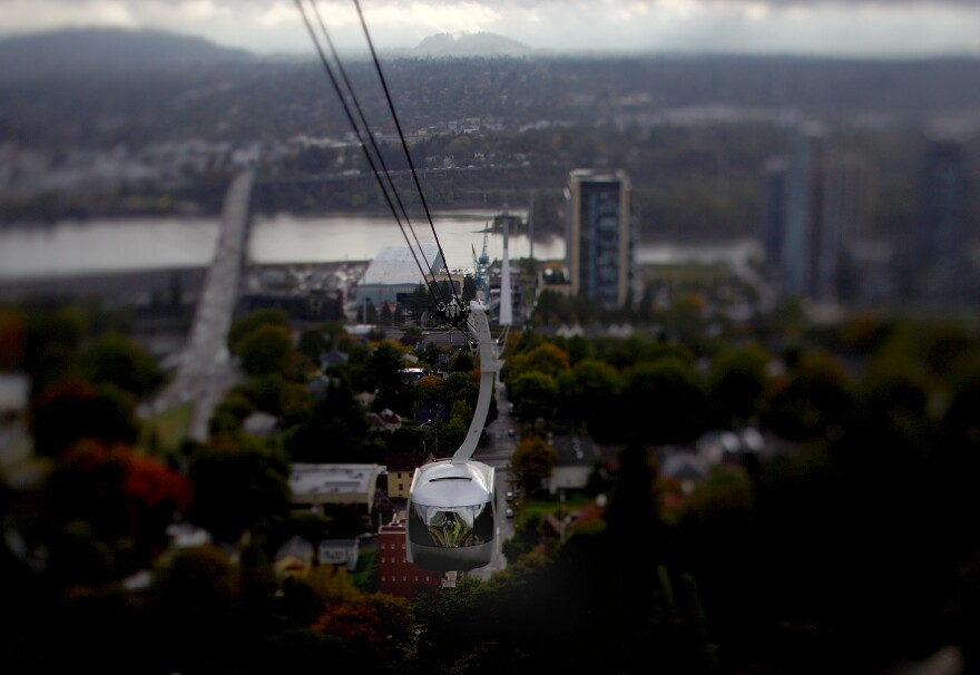 In Portland, Ore., an aerial tram connects commuters, doctors and patients from the south waterfront area to Oregon Health and Science University in the west hills.