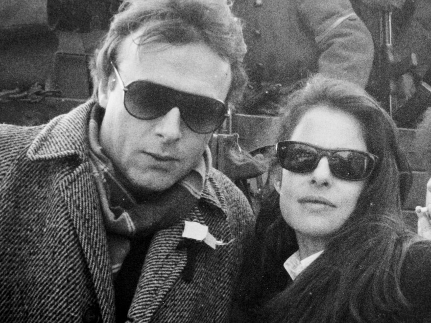 Christopher Hitchens with his wife, Carol Blue, during a trip to Romania in 1989.
