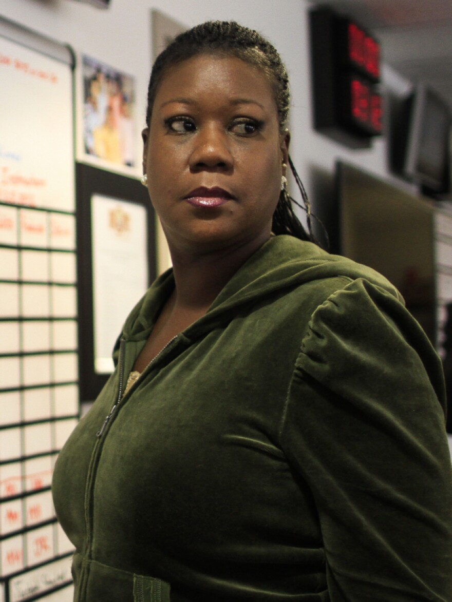 Sybrina Fulton, the mother of Trayvon Martin, appears for an interview with NPR's Michel Martin at <em>Tell Me More</em>.