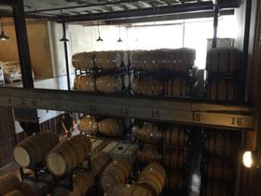 Barrel Room at the St. Augustine Distillery