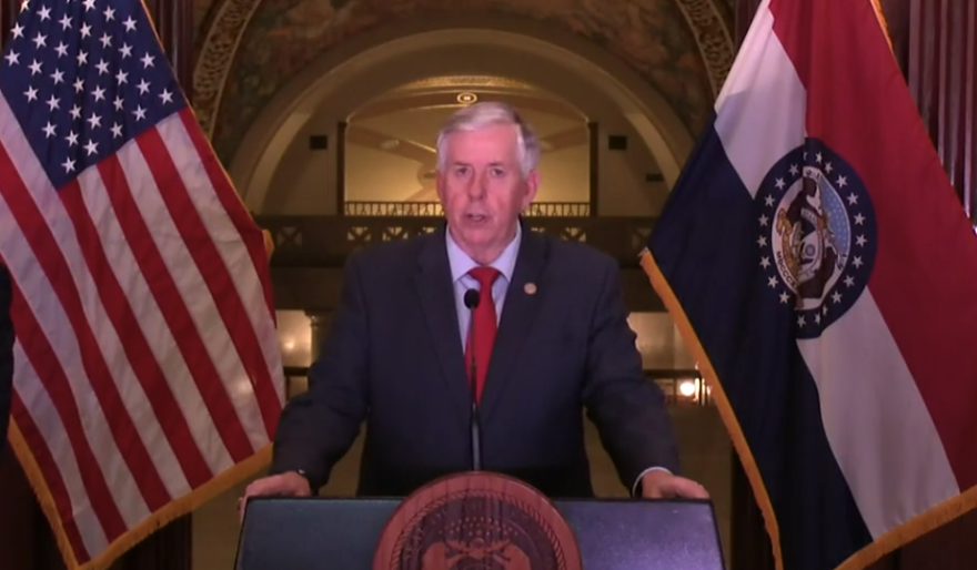 Gov. Mike Parson issued a statewide stay-at-home order on Friday. It will go into effect on Monday.