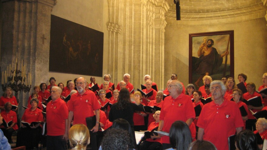 The New York City Labor Chorus performs in 2011 at the Basilica of Saint Francis of Assisi in Old Havana.