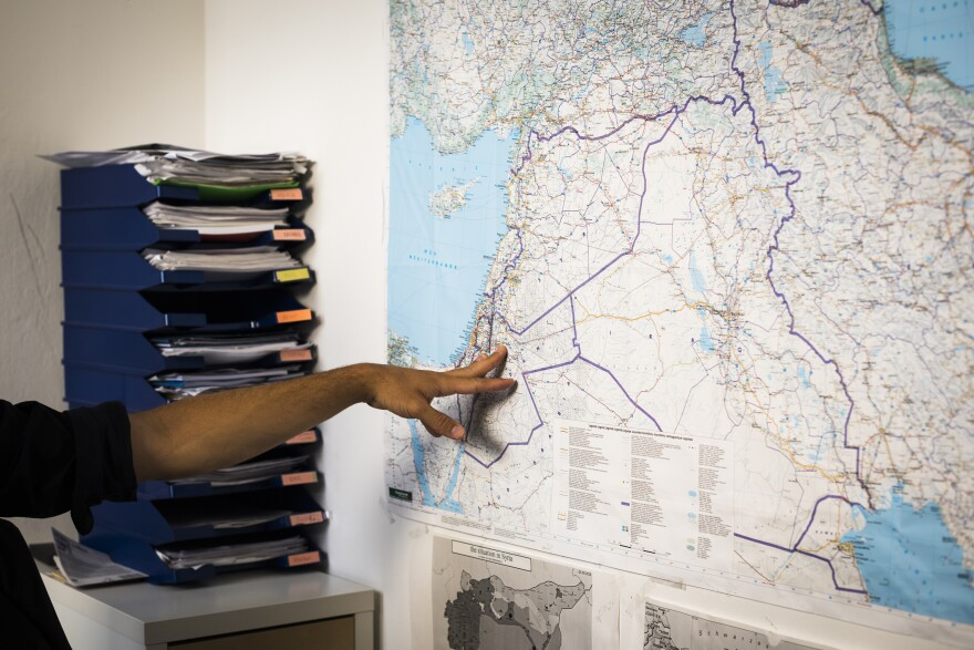 At his office, Kroker points to a map showing Jordan and Syria. He says European arrest warrants issued for high-ranking Syrian officials in 2018 spurred more investigations across Europe.