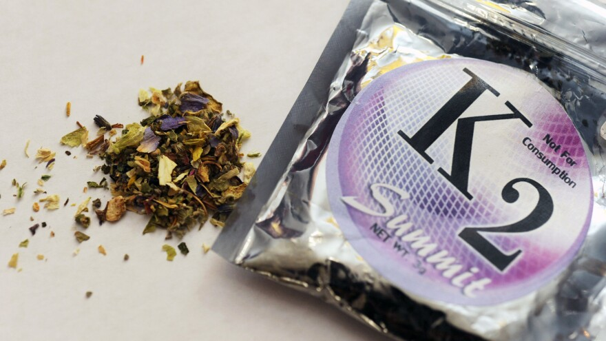 Dried plants dosed with psychoactive chemicals is marketed as K2 or spice.