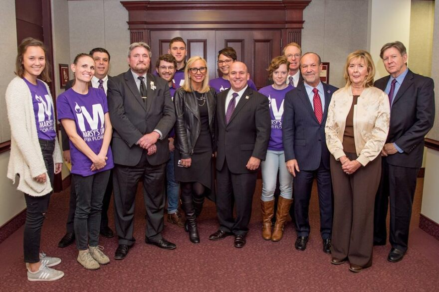 Supporters for Marsy's Law, including state Sen. Lauren Book (D-Hollywood) and Constitution Revision Commission member Tim Cerio.