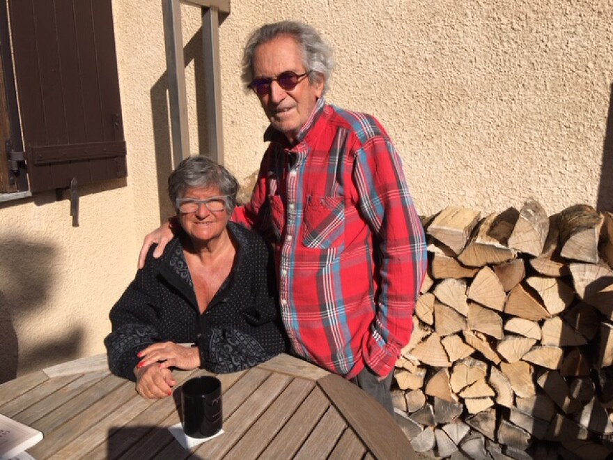 Danièle Enoch-Maillard and her husband Christian Maillard are sheltering from the coronavirus in their chalet in Chamonix, France. The French are now heading into their second week of home confinement.