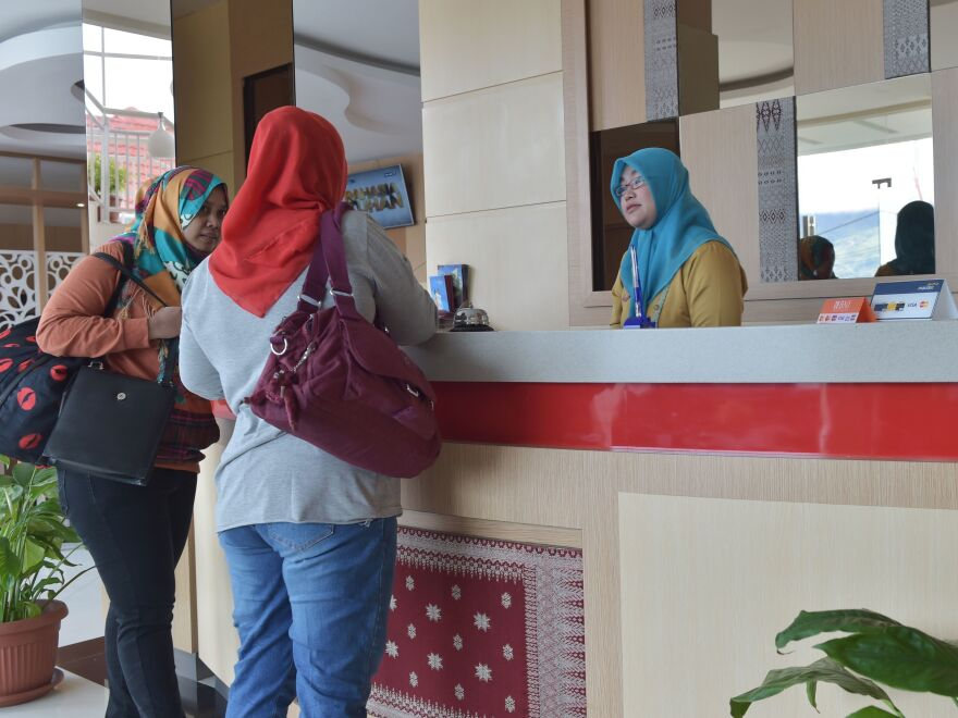 Tourists stay at a halal-friendly hotel in Bukit Tinggi, West Sumatra, Indonesia. Three Indonesian provinces have been officially listed as halal tourist destinations by Indonesia's Tourism Ministry, in a bid to increase the number of Muslim travelers from Asian and Middle Eastern countries.