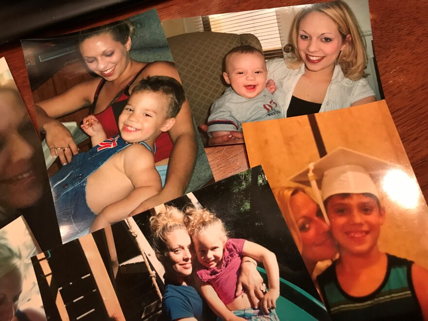Lisa Melcher's daughter Christina pictured here with her two children, Anthony and Jasmine. Christina died of a heroin overdose in May 2017. Lisa says Christina is the heart of the Hope Dealer Project and came up with the name.