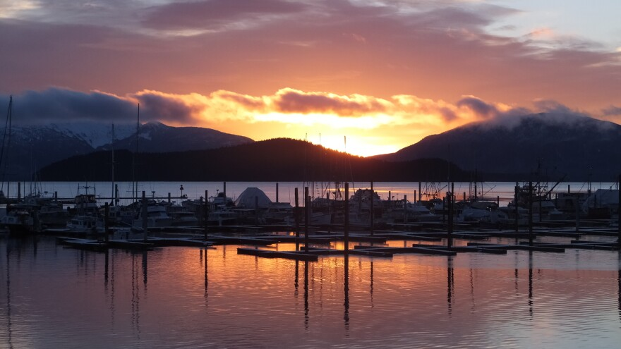 """The view from Auke Bay, Alaska. One commentator says political life in Alaska takes a back seat during the height of summer. """"Once the fish start running ... all the air goes out of it and people stop paying attention,"""" said Charles Wohlforth."""