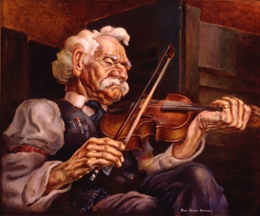 Bransby painted <em>The Fiddler</em> in 1940. He has painted the human figure throughout his career, even at times when it wasn't in vogue.