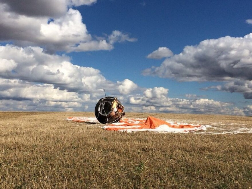 A Russian capsule that housed a gecko space-sex experiment. The geckos all died.