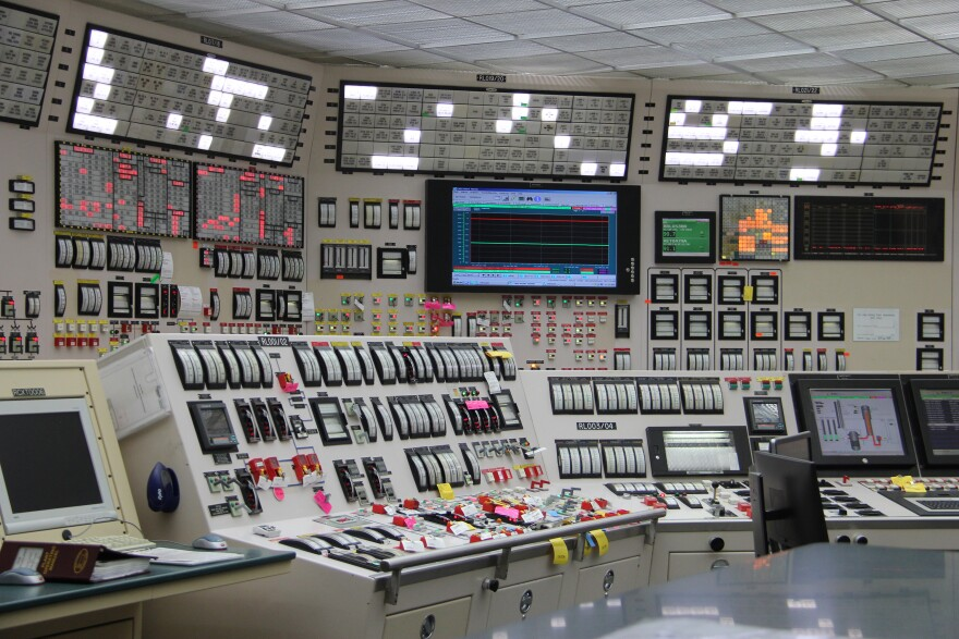 The control room of the Callaway Nuclear Generating Station. The plant produced about 13% of the energy generated in Missouri in 2018.