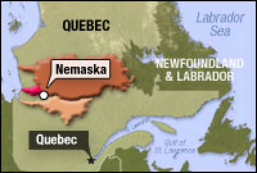Hydro-Quebec's hydropower complex, the James Bay Project, consists of diverting a number of rivers in northern Quebec over essentially three phases, shown here.