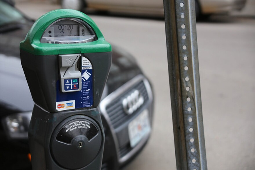 A report being considered by the St. Louis parking commission suggests increasing parking rates in the city. That would help fund upgraded meters, like this one that takes credit cards.