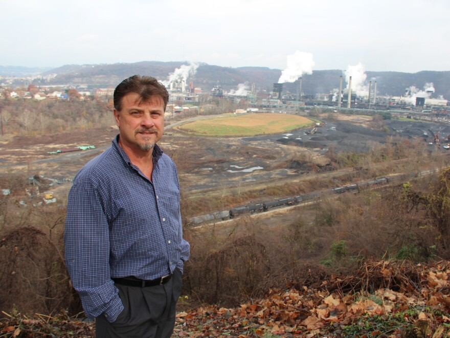 Clairton Mayor Rich Lattanzi says air quality has improved a lot in recent decades. He remembers when pollution from the coke works plant was so bad, trees couldn't grow on nearby hillsides.