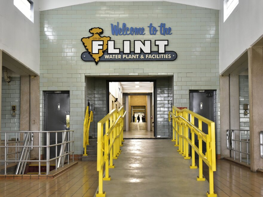 The interior of the Flint water plant is seen on Sept. 14, 2016, in Flint, Mich.