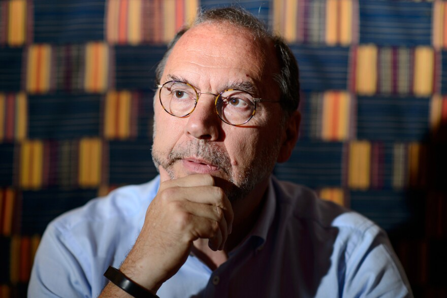 """Peter Piot was one of the co-discoverers of the Ebola virus in 1976. """"I never thought we would see such a devastating and vast epidemic,"""" he says."""