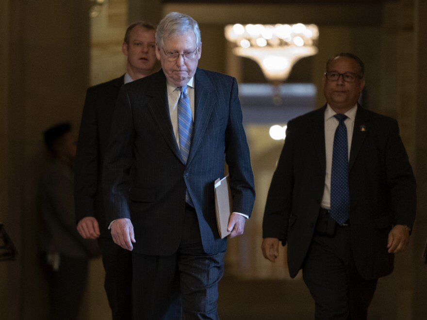Senate Majority Leader Mitch McConnell, R-Ky., released a GOP-led coronavirus response bill Thursday.