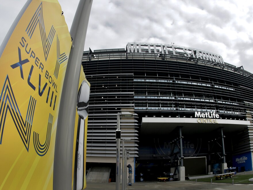 """Tickets? Tickets? Anybody need tickets? Some are available to Sunday's Super Bowl in New Jersey at """"bargain"""" prices."""