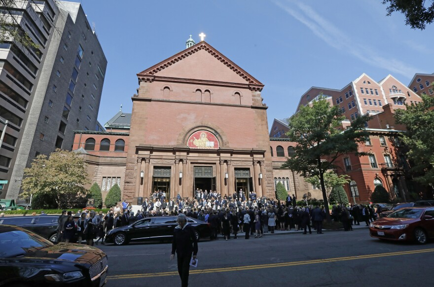 The funeral mass took place at the Cathedral of St. Matthew the Apostle,  the site of President John F. Kennedy's funeral in 1963. Every fall, it hosts the Red Mass, which marks the beginning of a new Supreme Court term. Two popes have visited the cathedral as well.