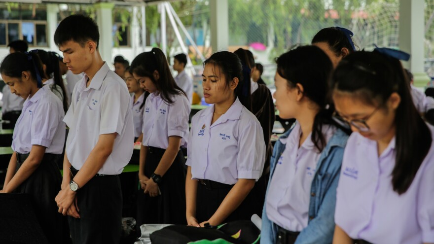 Members of of the Wild Boars soccer team and their coach were rescued from a cave complex in Thailand on Tuesday. As the final phase of the rescue operation got under way, their classmates prayed at the Maisai Prasitsart school before the start of classes on Tuesday morning.