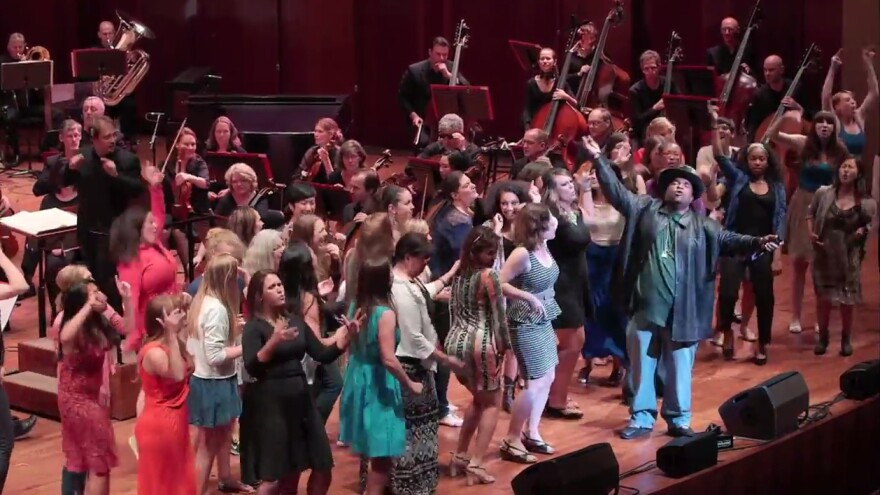 """Sir Mix-a-Lot and the Seattle Symphony performed his hit """"Baby Got Back"""" amid energetic audience participation Saturday night."""