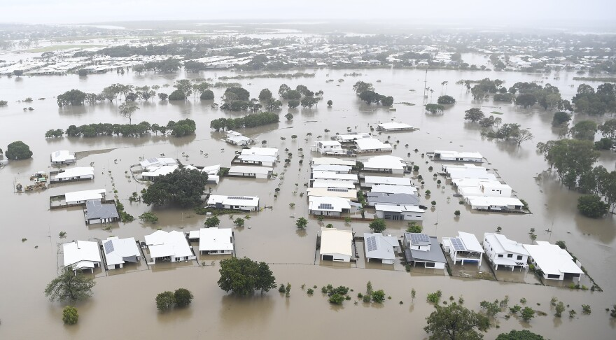 The city of Townsville in Australia has been flooded by torrential rains.