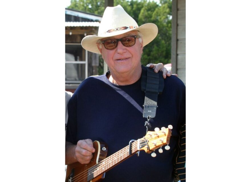 Country singer and songwriter Jerry Jeff Walker stands outside at Willie Nelson's ranch near Austin.