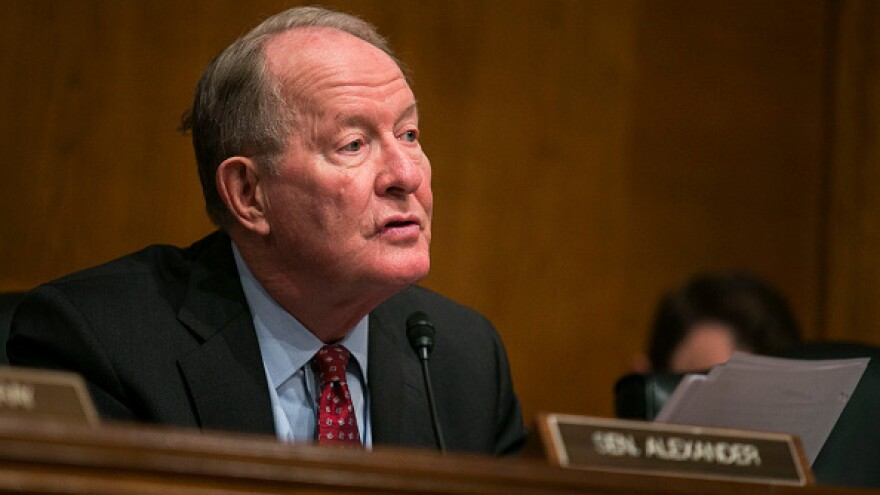 Senate Health, Education, Labor, and Pensions Committee Chairman Lamar Alexander, R-Tenn., makes opening statements during a hearing to examine the National Labor Relations Board's joint employer decision last month.