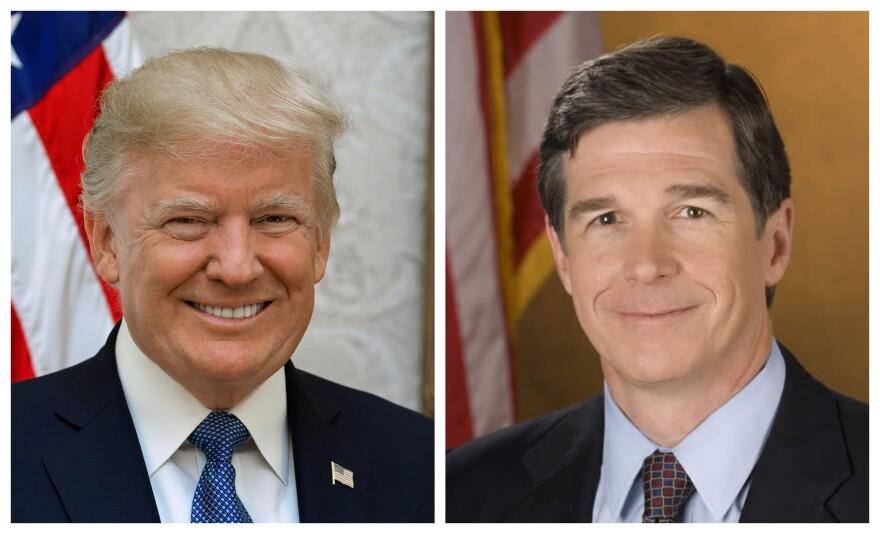 President Trump and NC Gov. Roy Cooper