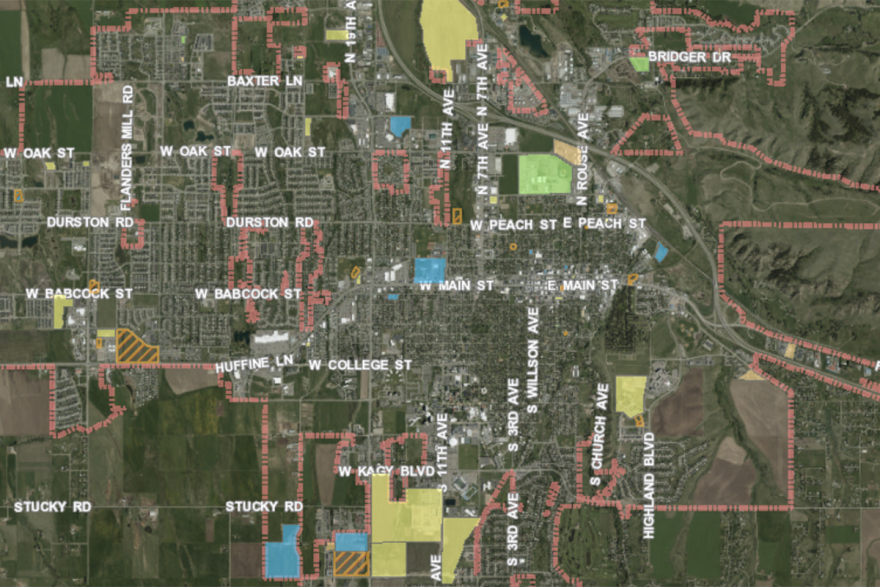 Screenshot of development projects in Bozeman from the city's Community Developer Viewer, July 18, 2019.