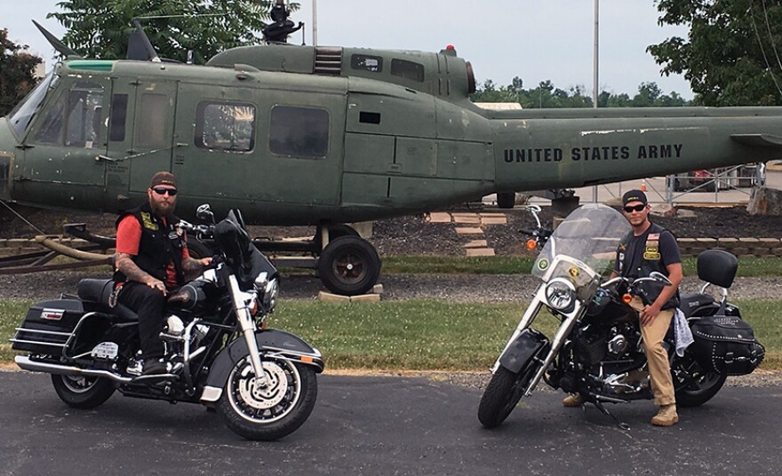 Veterans and motorcyclists Steve Ratcliffe and David Berry.